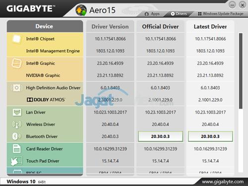 Gigabyte Aero 15X v8 Smart Update 01