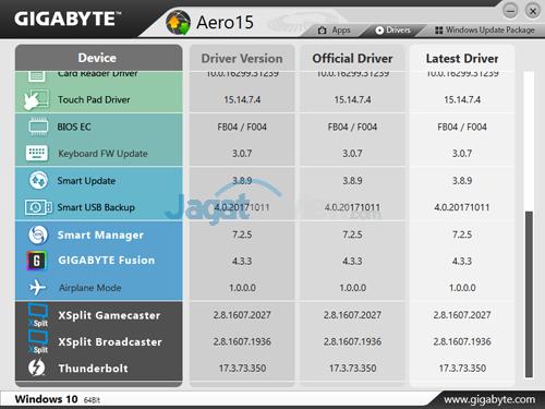 Gigabyte Aero 15X v8 Smart Update 02
