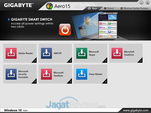 Gigabyte Aero 15X v8 Smart Update 03