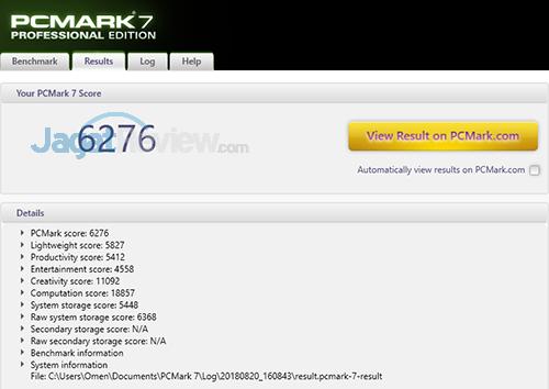 HP Omen 15 dc0036tx PCMark 7