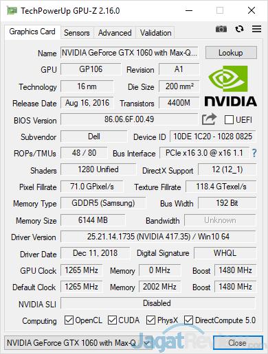 Dell G7 15 7588 GPUZ 01