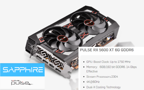 5 Sapphire Pulse RX 5600XT