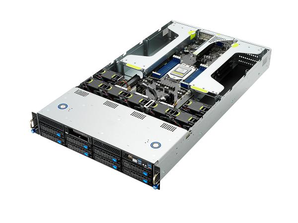 ASUS ESC4000A E10 NVIDIA A100 powered 2U server with PCIe Gen4 OCP 3 and four A100 PCIe GPU support
