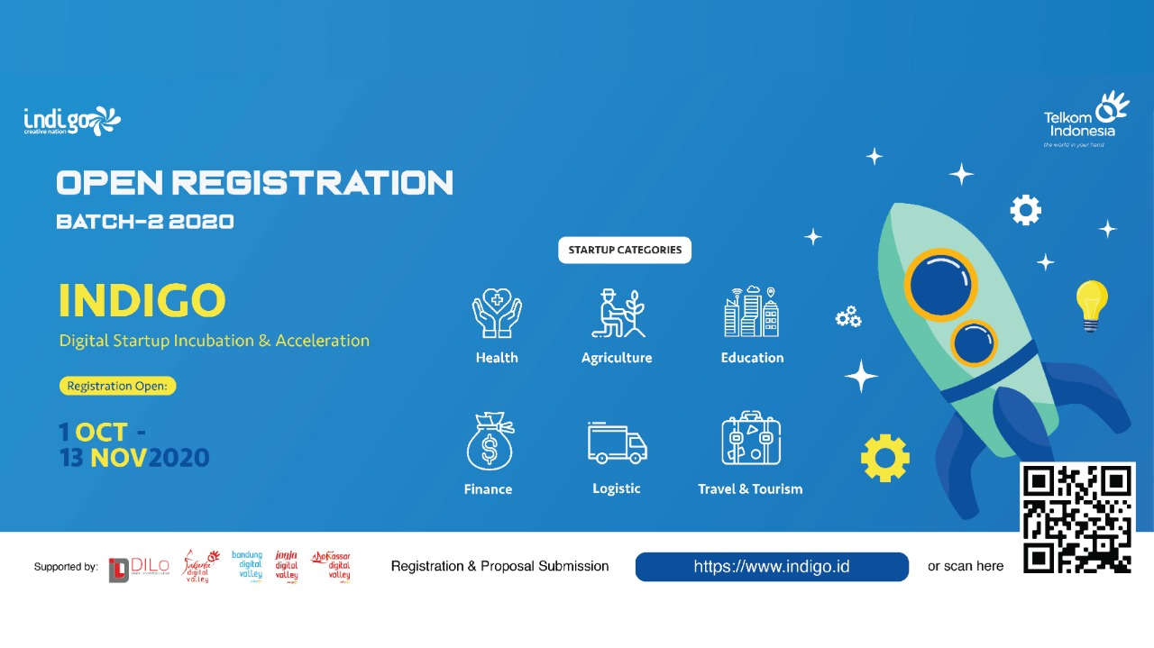 Telkom Indigo Batch 2 Startup Inkubator