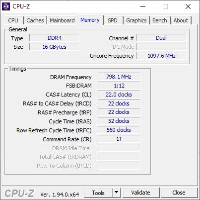 CPUZ Memory 1