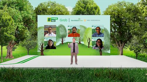 Acara Peluncuran Grab Carbon Offsetting bersama BenihBaik.com dan WRI Indonesia.