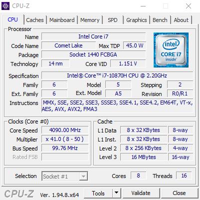 CPUZ CPU 1