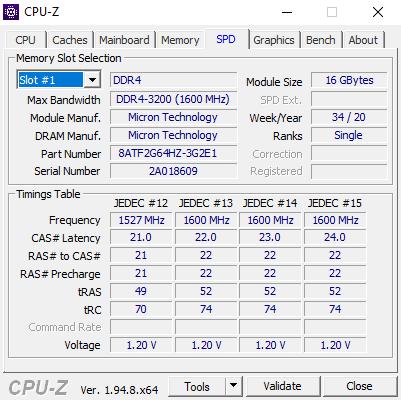 CPUZ SPD1