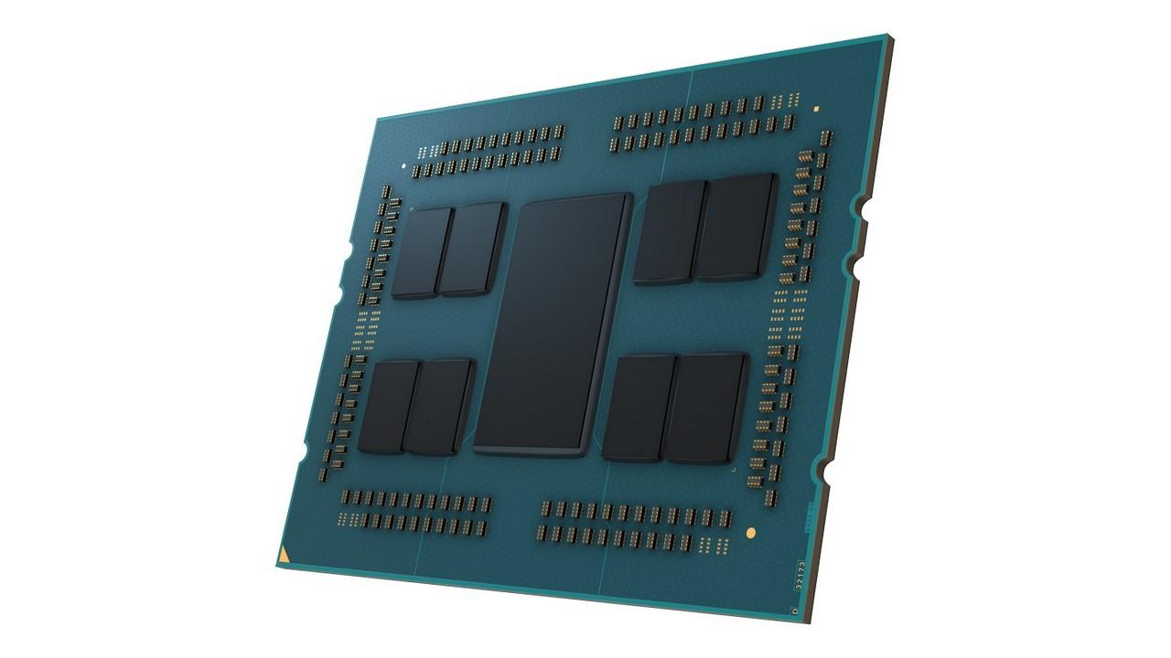 AMD EPYC 7003 Series Processor Delidded Left