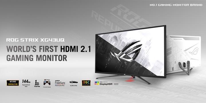 Spesifikasi ROG Strix XG43UQ HDMI 2.1 gaming monitor