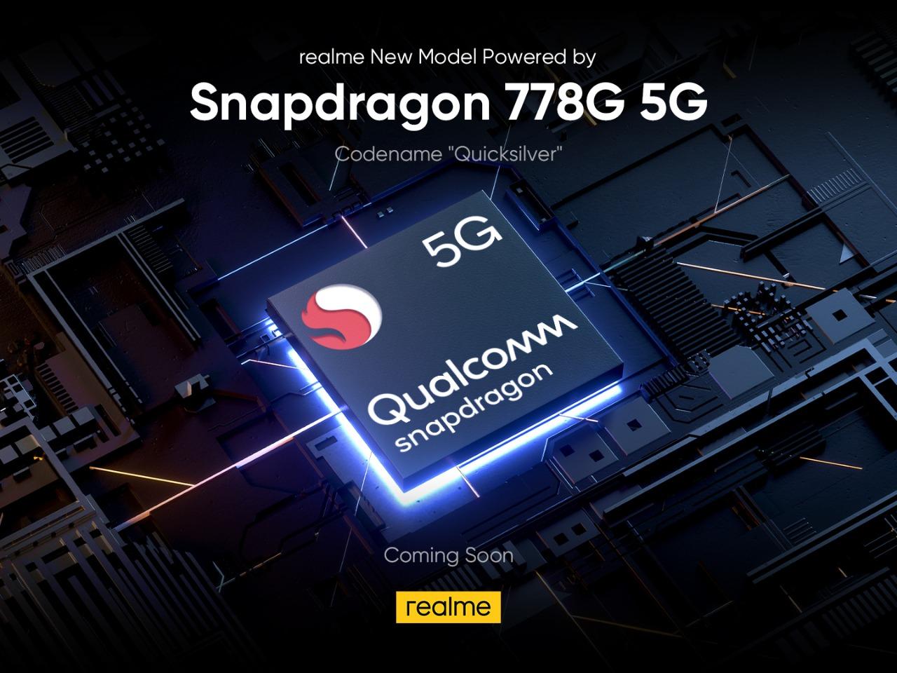 Snapdragon 778G 5G di realme Quicksilver