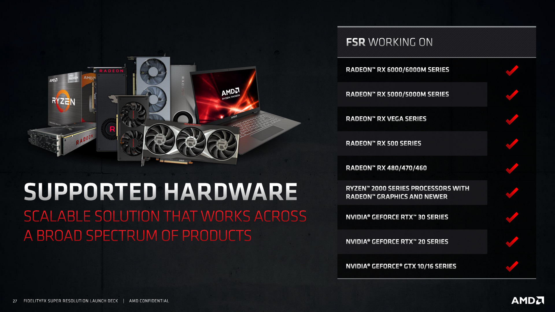 AMD FSR Launch Slides Page 27