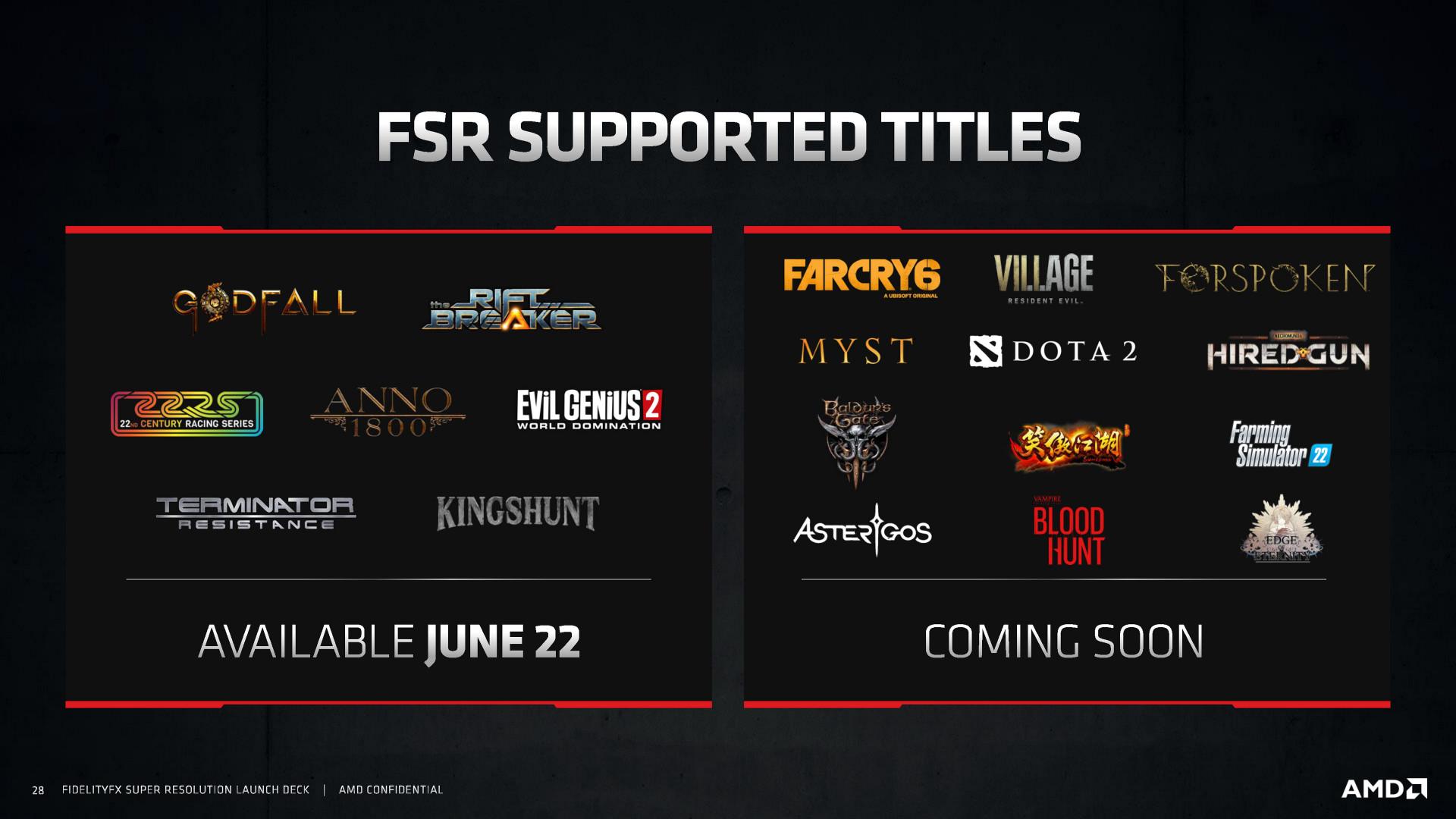 AMD FSR Launch Slides Page 28