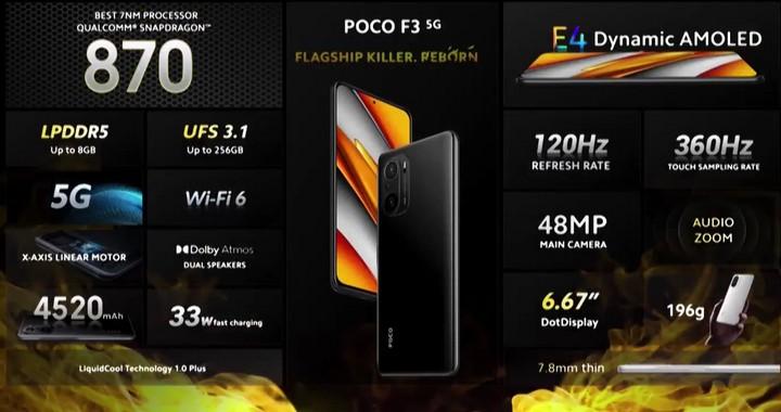 Poco F3 Spesifikasi
