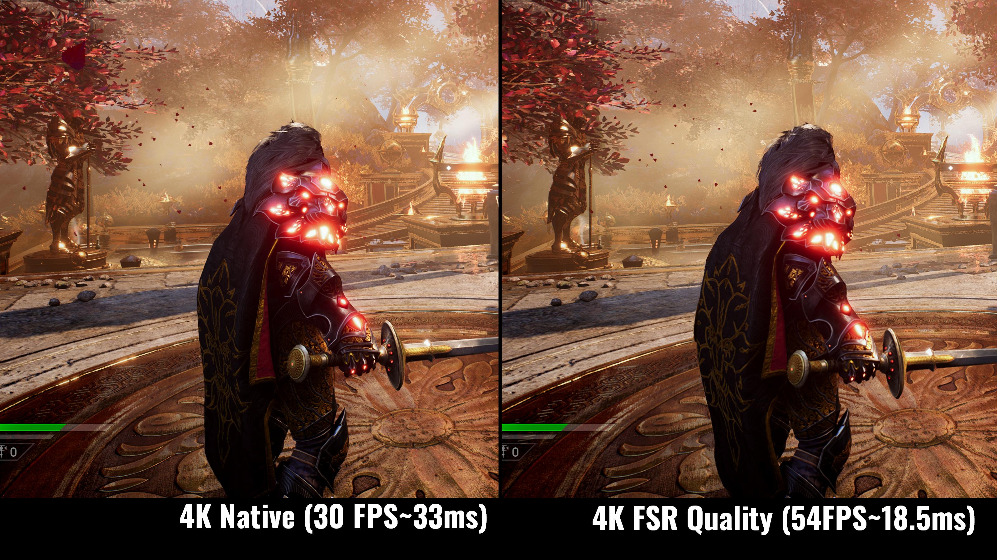 SS6 Native vs FSR