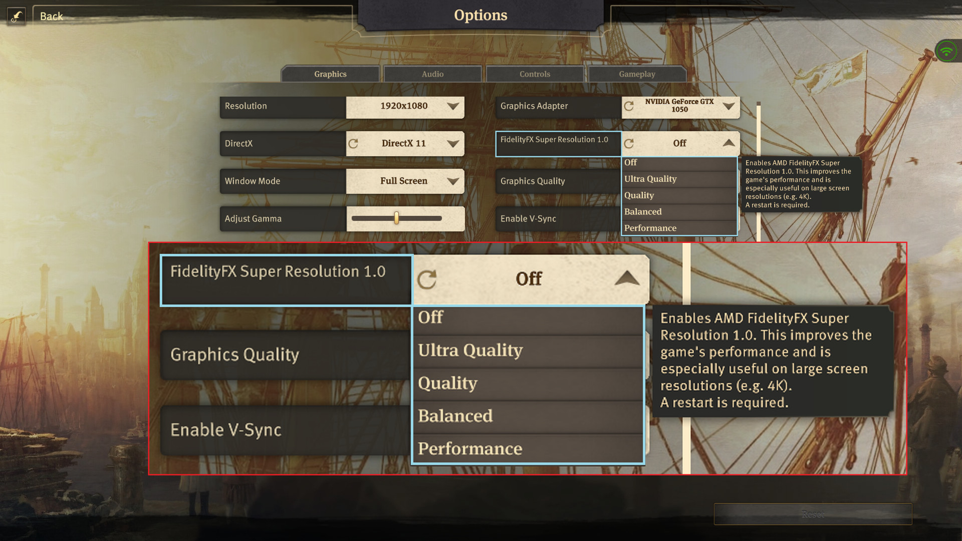 SS9 FSR Options