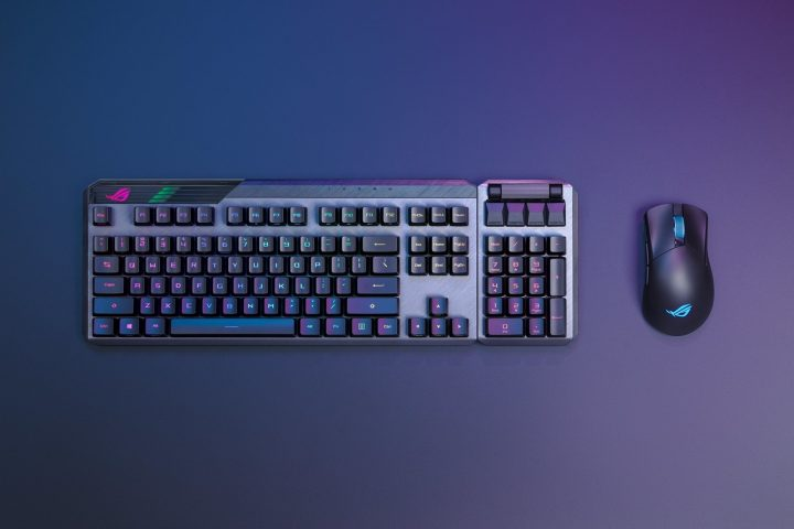 ROG Gladius III Wireless dan keyboard Claymore II