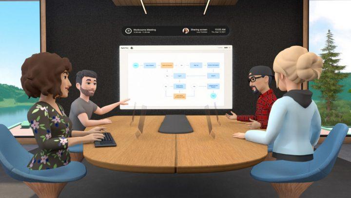 Facebook Metting Online VR Horizon Workroom 1