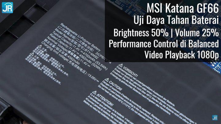 review MSI Katana GF66