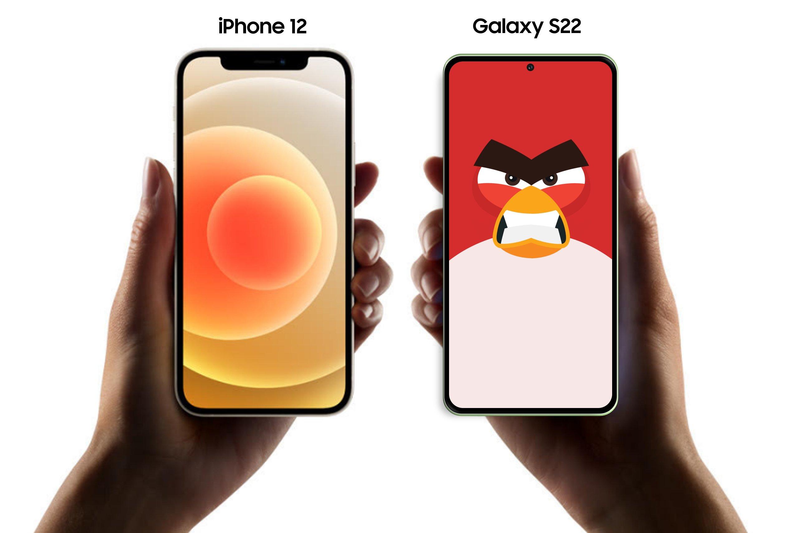 s22 vs iphone 12
