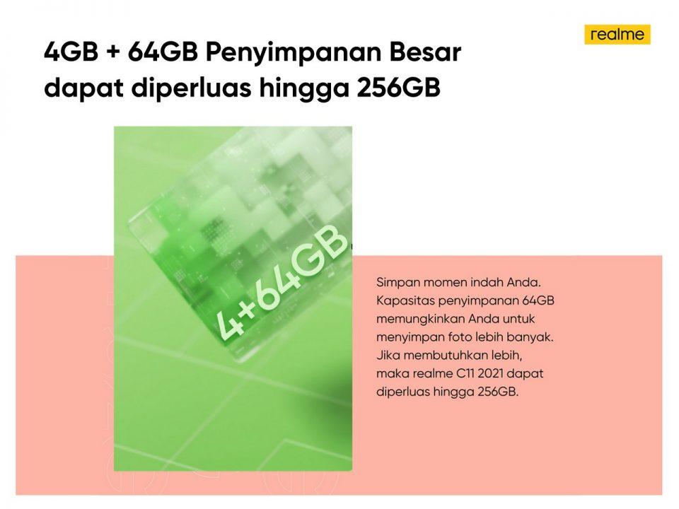 4GB64GB Penyimpanan Besar
