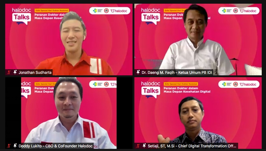 Diskusi Hari Dokter Nasional Kemenkes IDI Halodoc